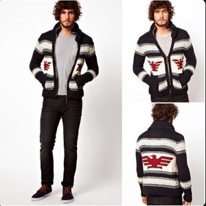 SUPERDRY Men's BUFFALO Knitted Cardigan Sweater